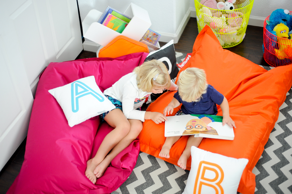 Colorful Bean Bags - Project Nursery