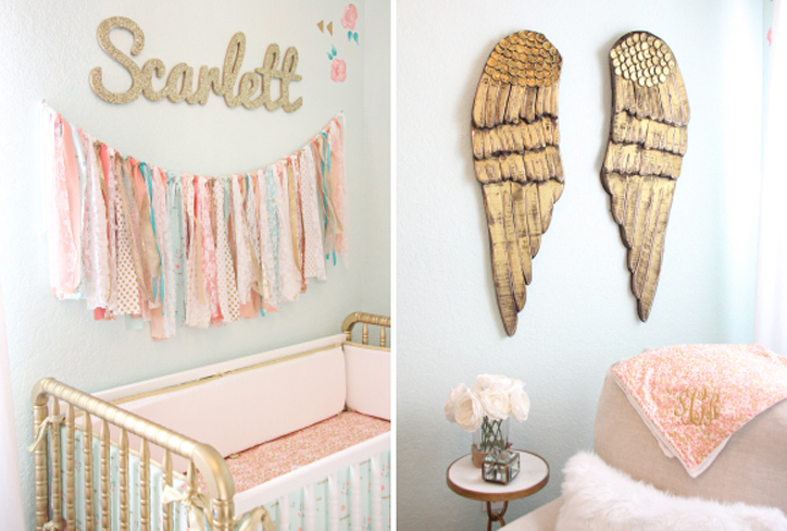 Gold Angel Wings Nursery Decor