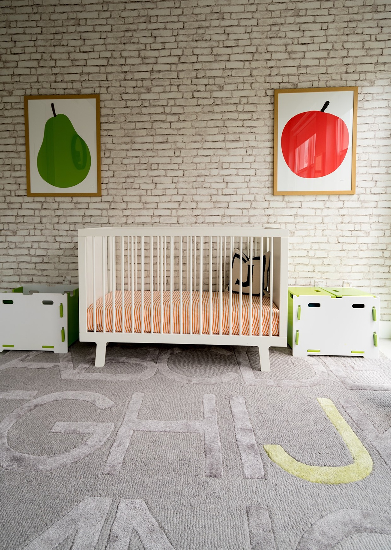 Modern Nursery with ABC Rug