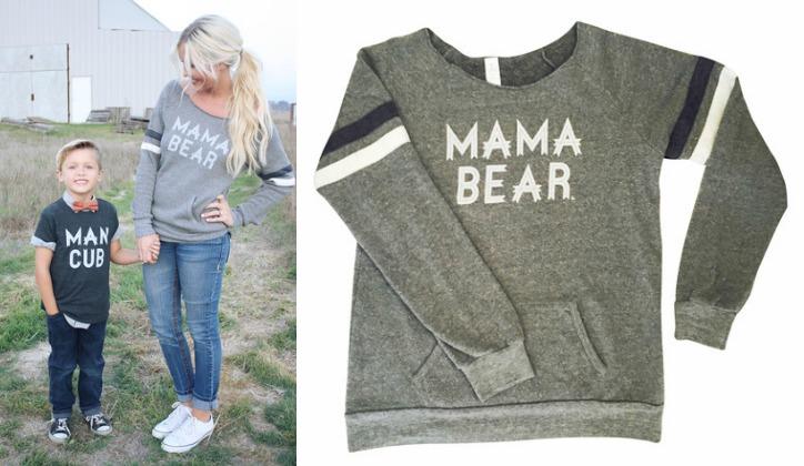 """Mama Bear"" Sweatshirt from Loved by Hannah and Eli"