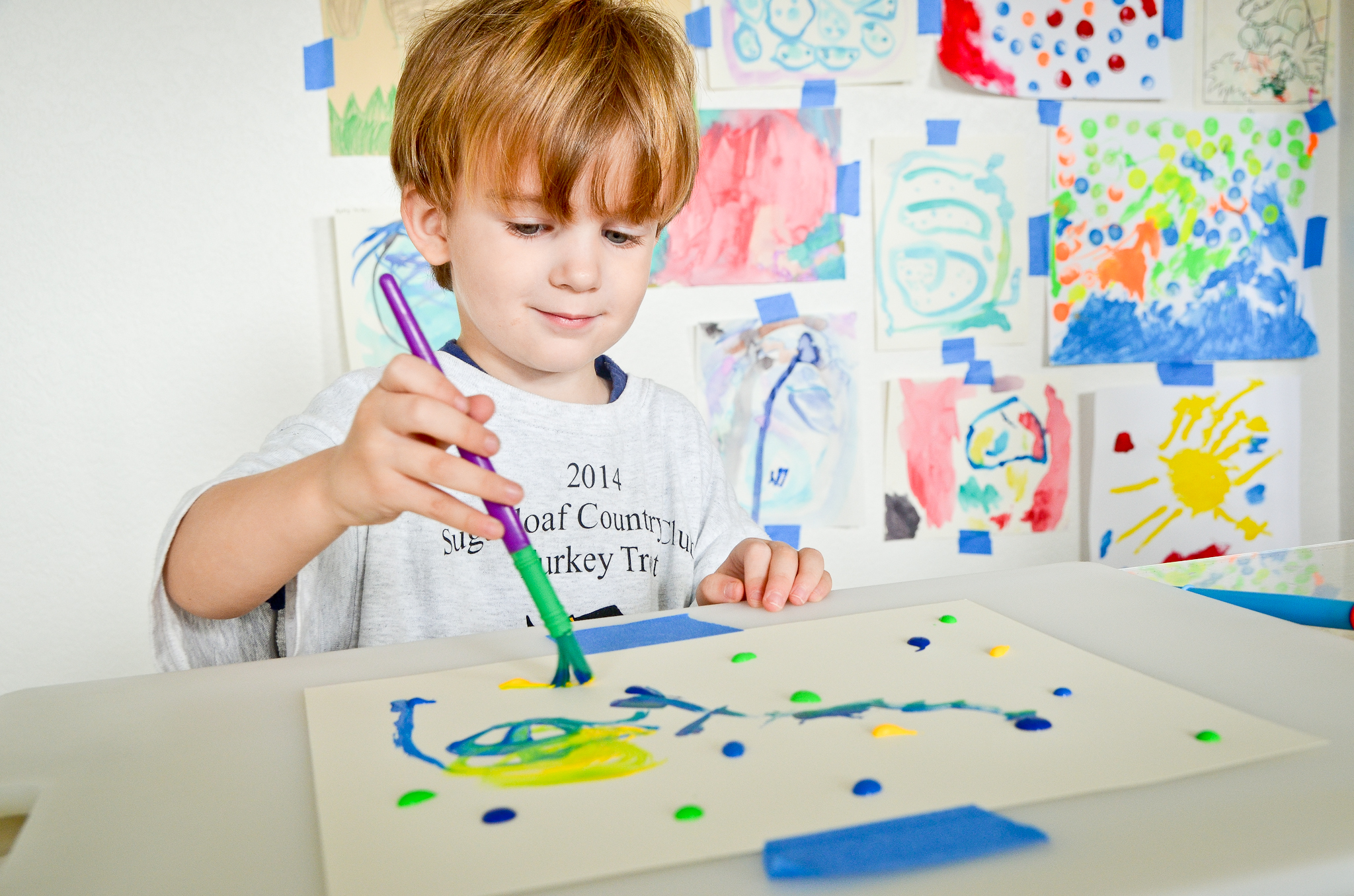 tips for painting with toddlers - Picture For Kid Painting