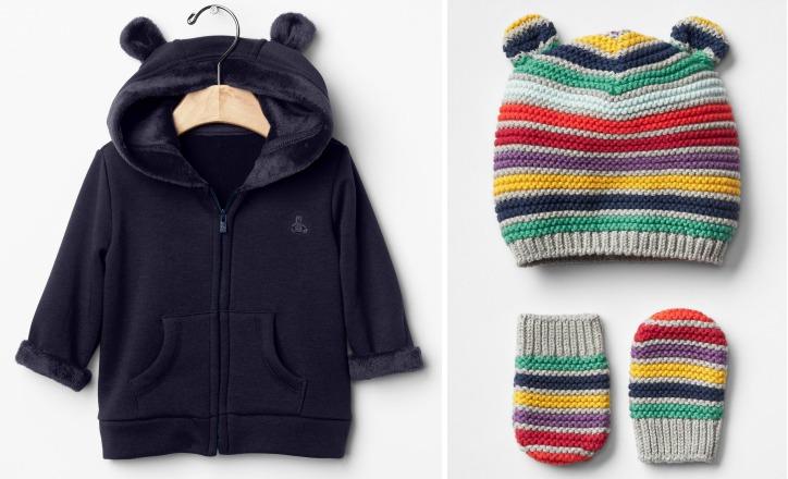 Fleece Jacket and Hat & Mitten Set from Gap