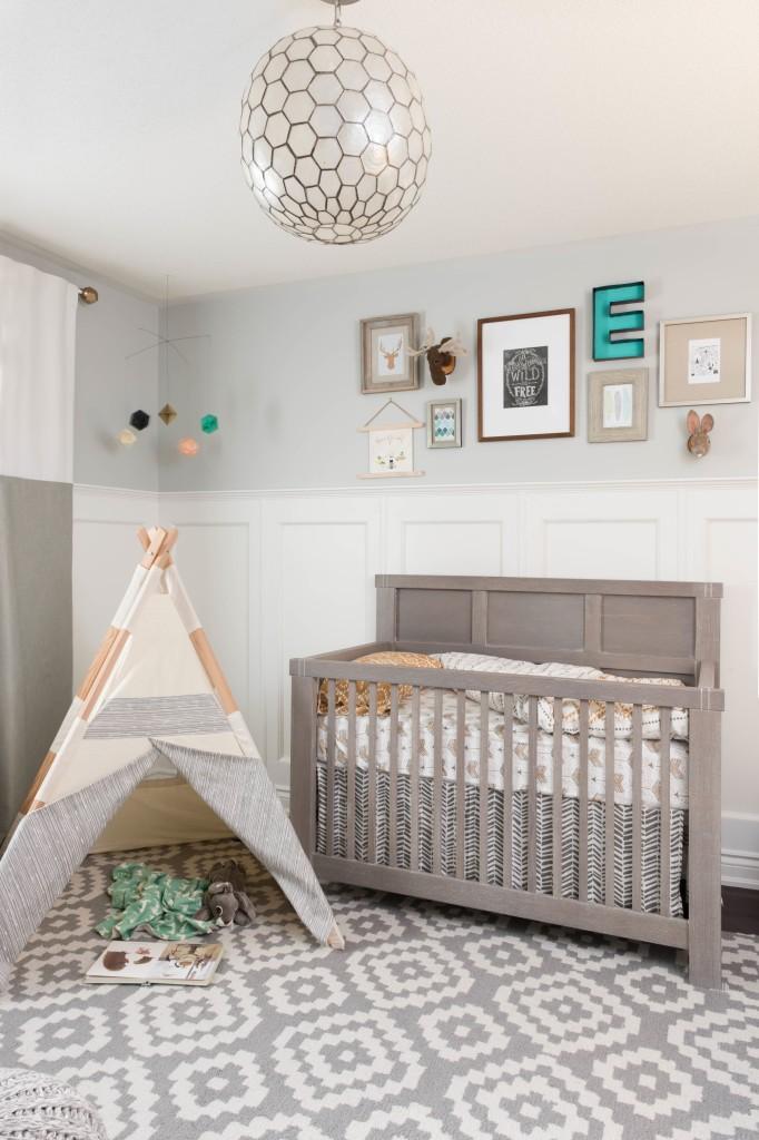 Gray and White Boho Woodland Nursery - Project Nursery