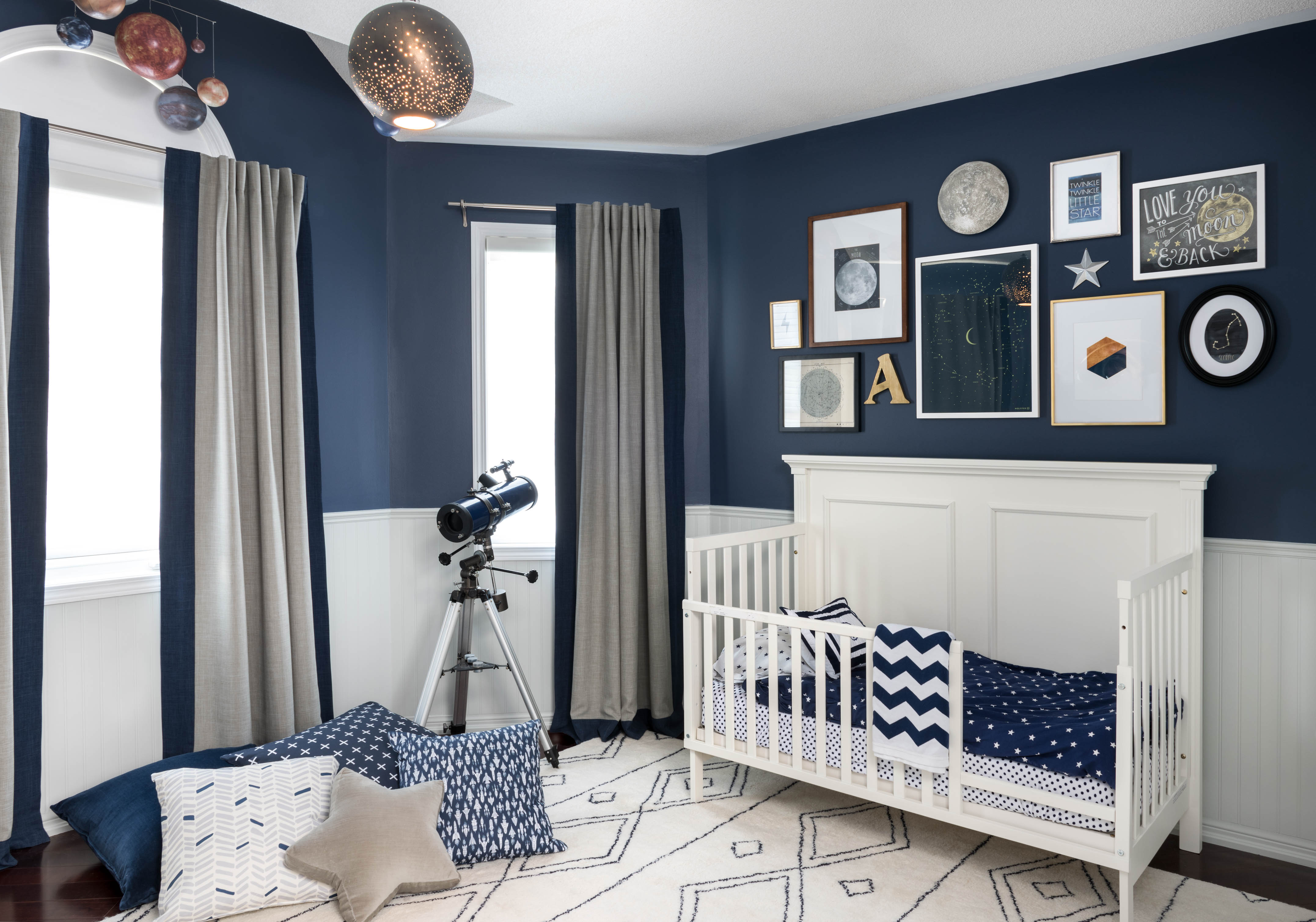 Celestial inspired boys room project nursery for Baby s room decoration ideas