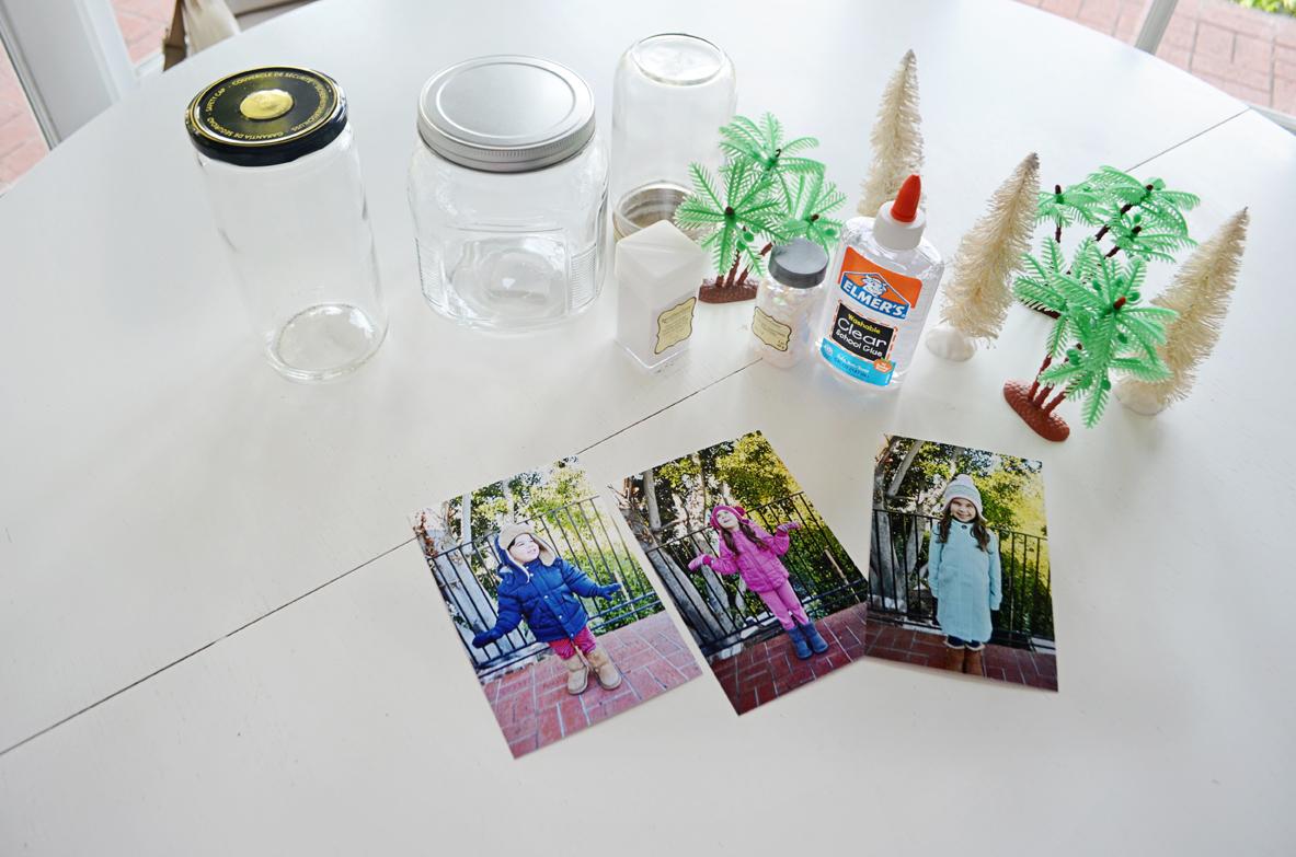 DIY Photo Snow Globes Supplies