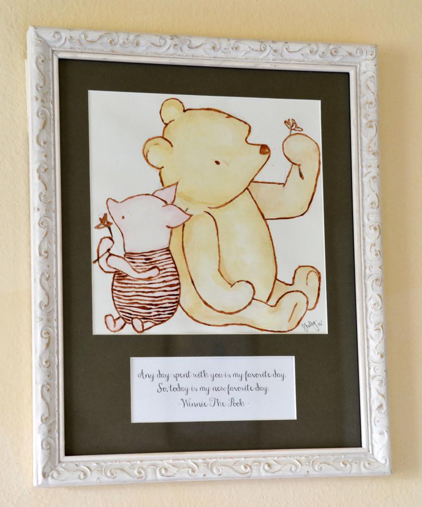classic and glamorous winnie the pooh nursery