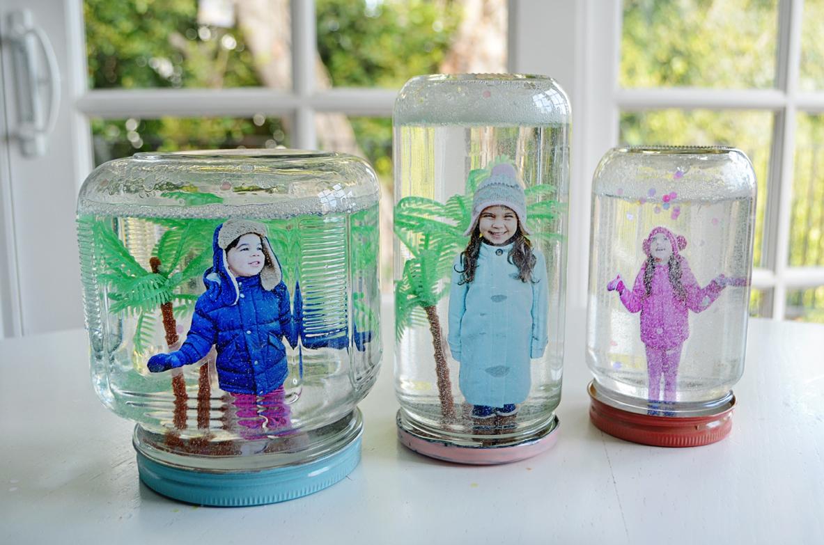 DIY Photo Snow Globes
