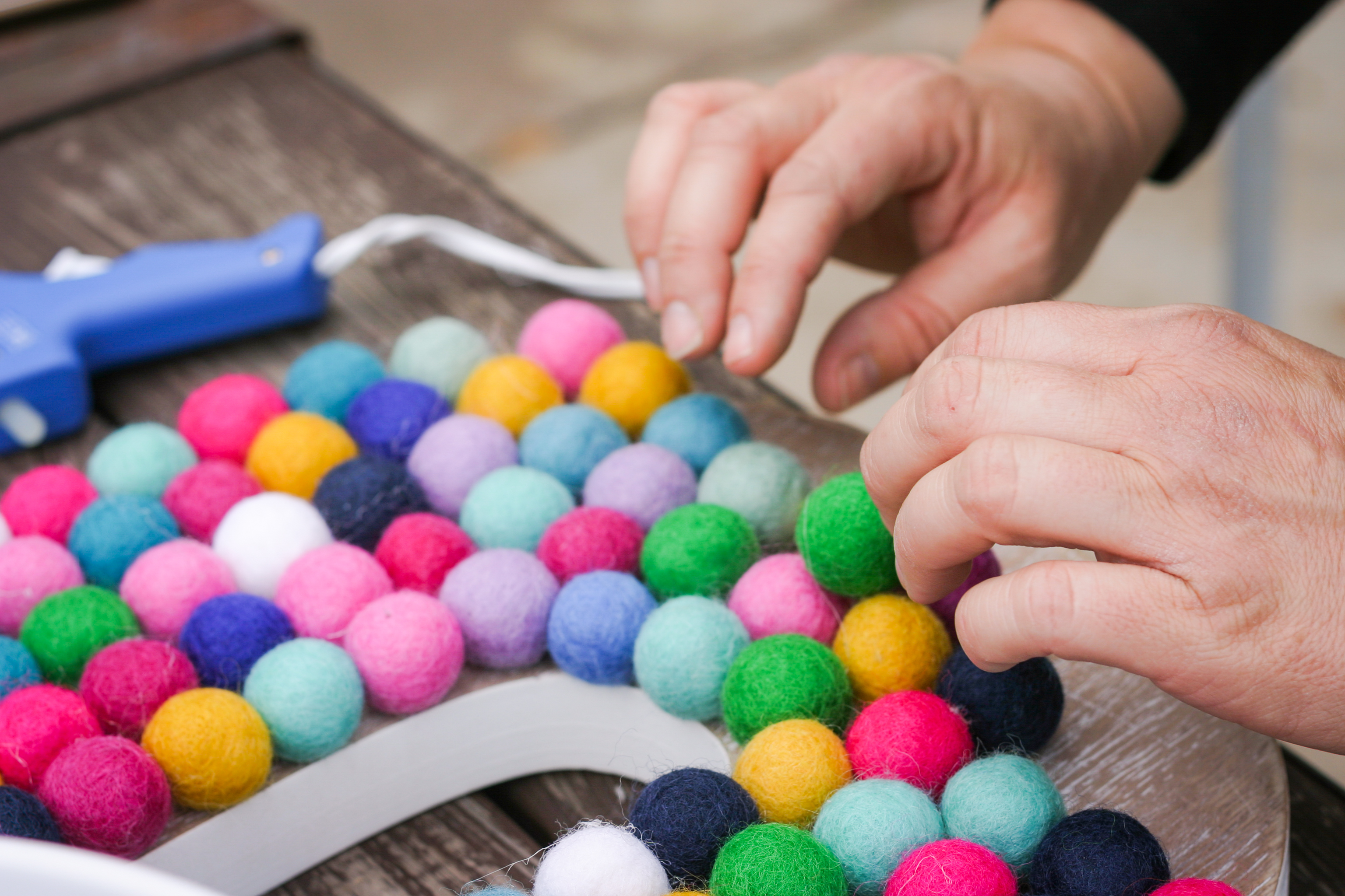 Diy Felt Ball Letter  Project Nursery