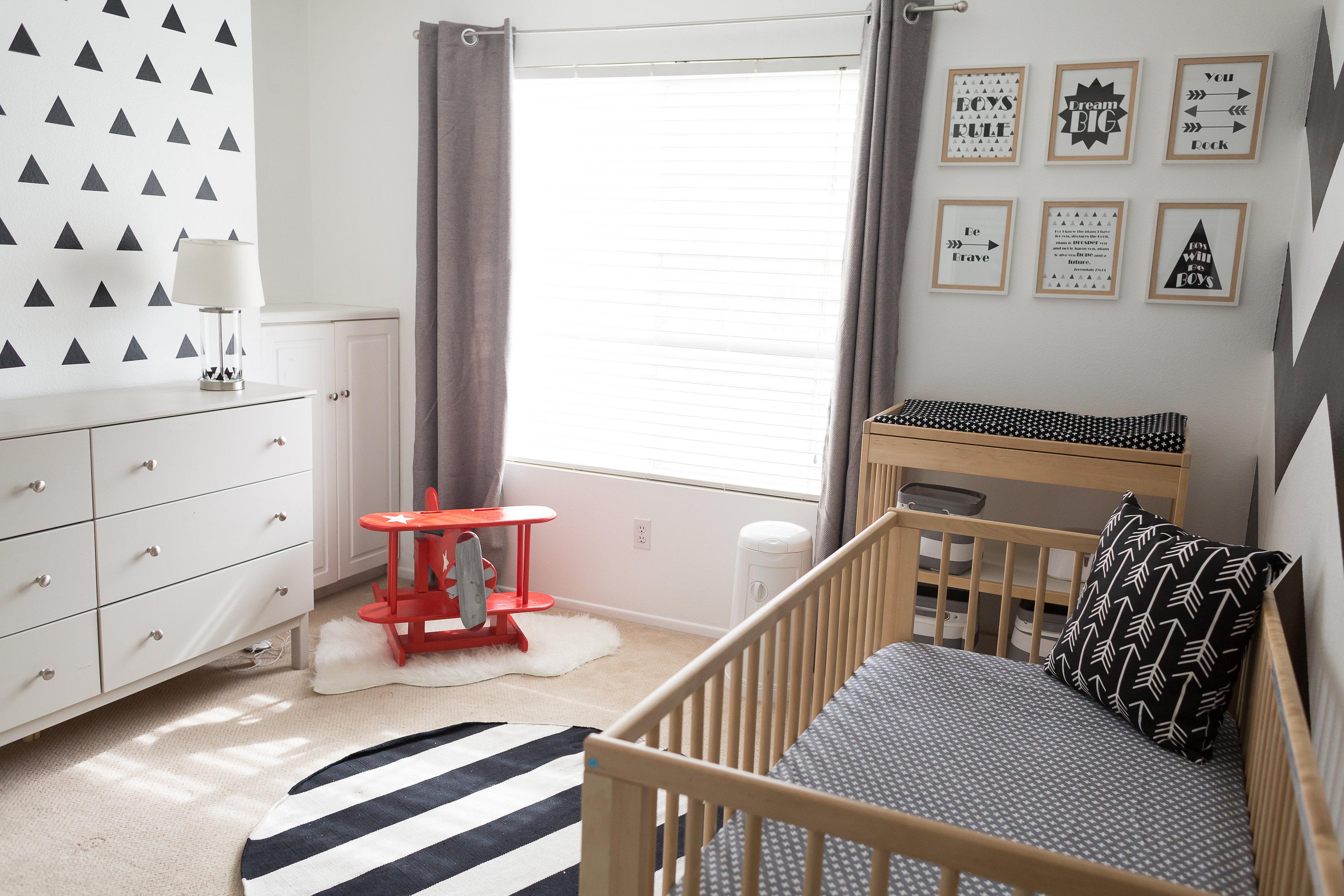 Black And White Playroom Wall