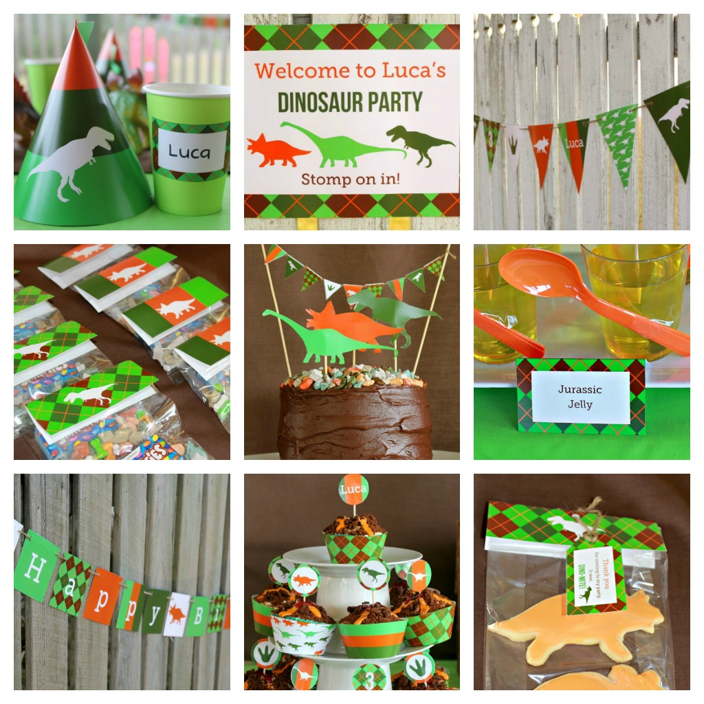 Dino mite dinosaur 3rd birthday party project nursery for Decoration kit