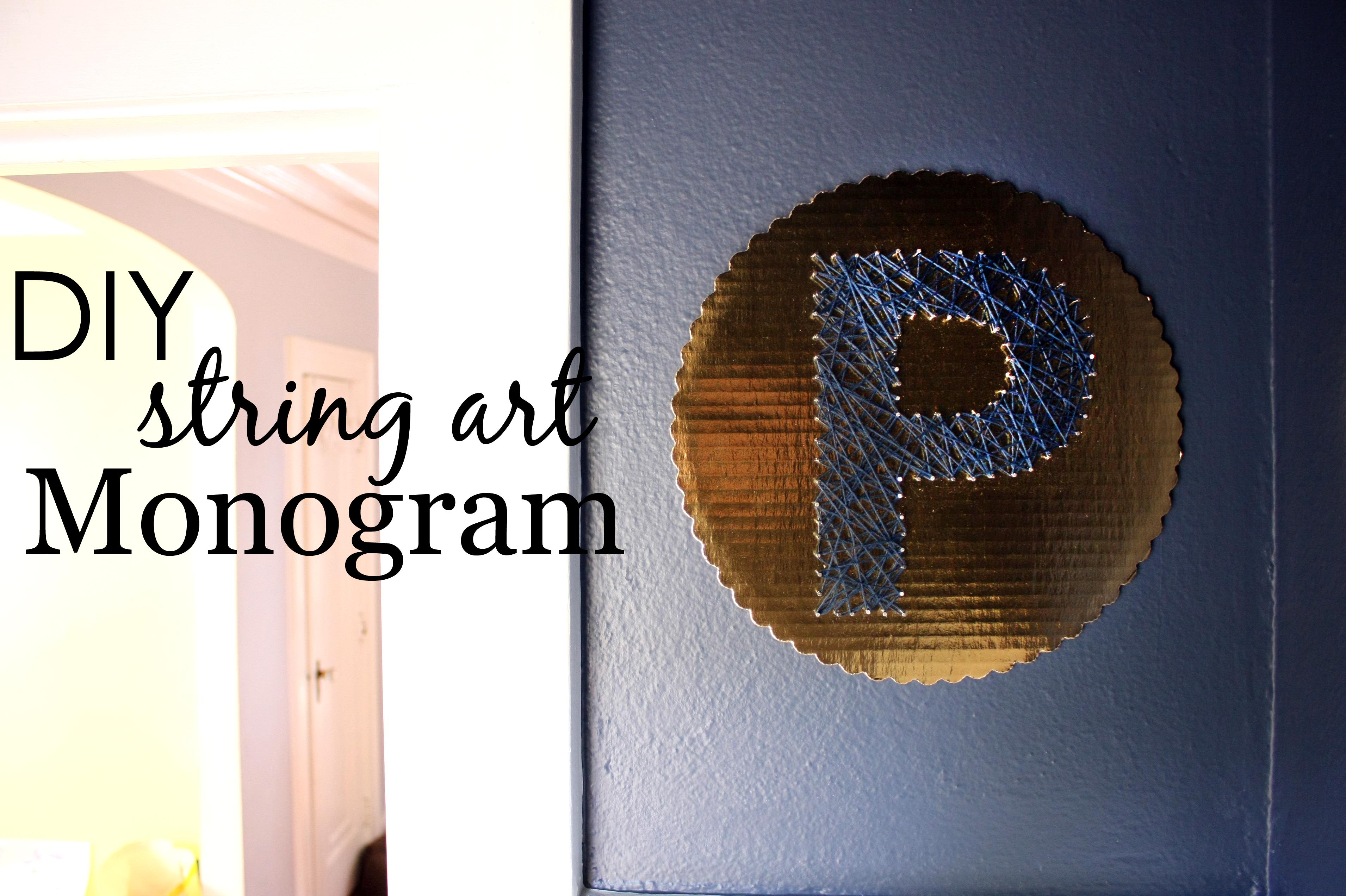 DIY String Art Monogram