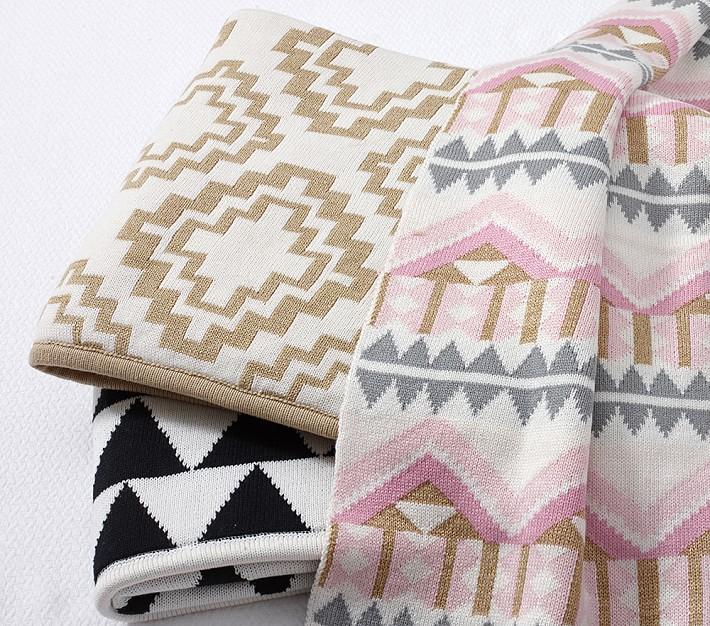 Emily & Meritt Patterned Stroller Blankets