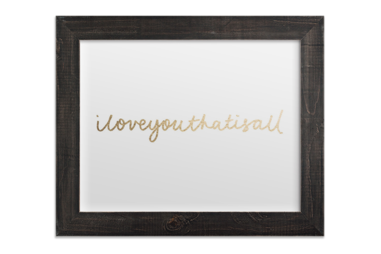 I Love You Art Print from Minted
