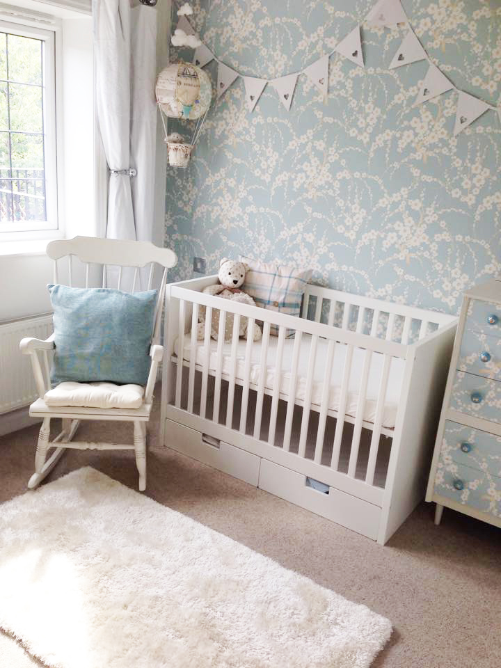 Pastel Blue Nursery Wallpaper - Project Nursery