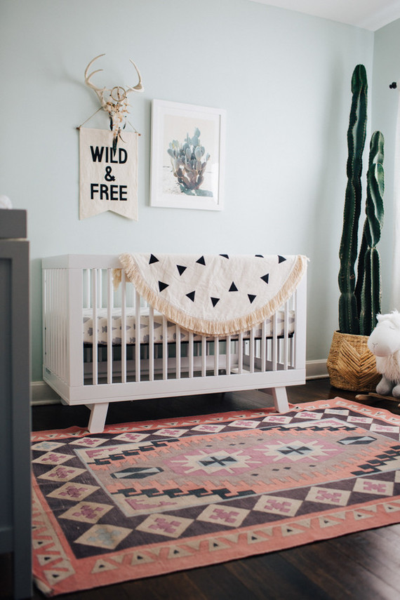 Modern Nursery with Southwestern Decor