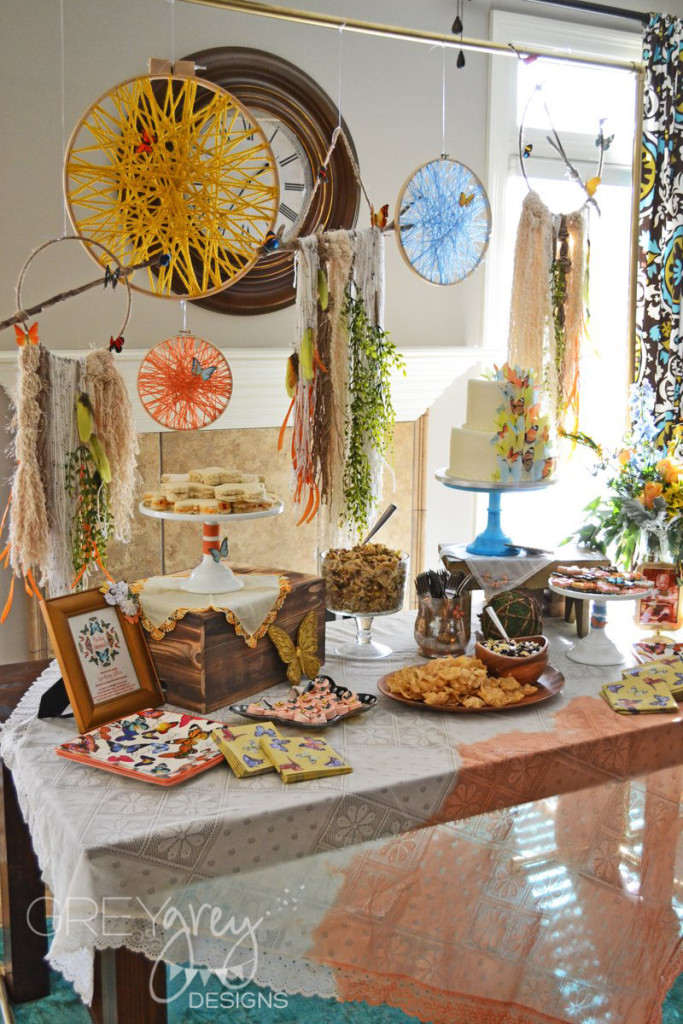Bohemian Butterfly Baby Shower Project Nursery