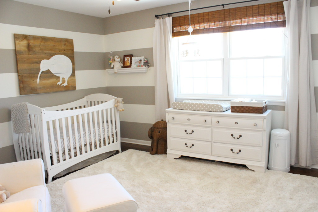 Gender Neutral Nursery with Gray and White Stripes - Project Nursery