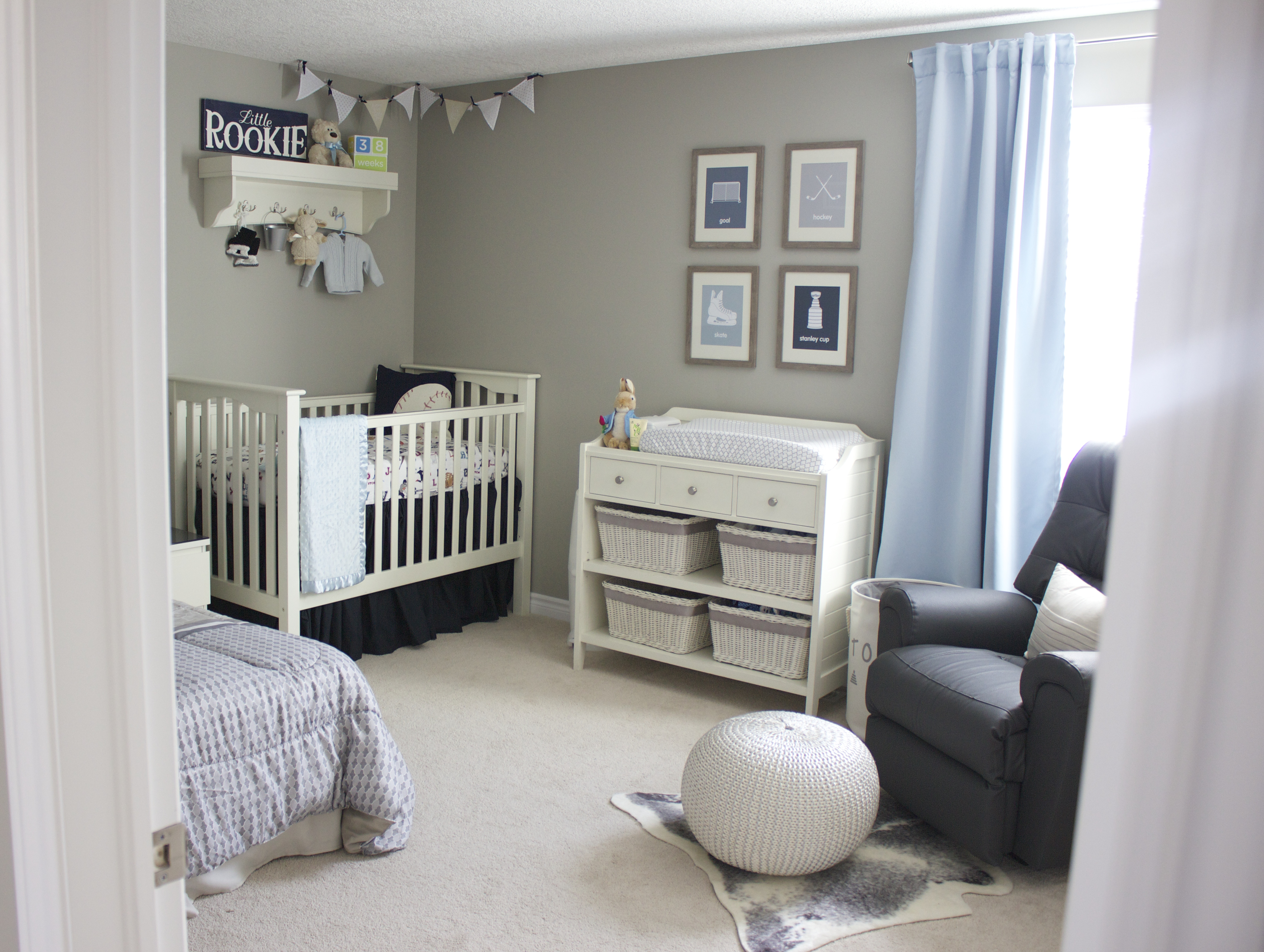 A Blue And Gray Sports Inspired Nursery Project Nursery