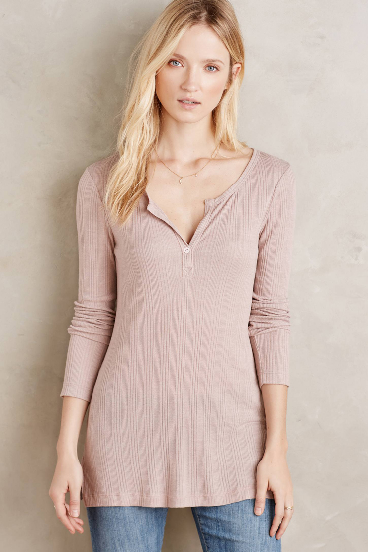 Classic Rib Henley from Anthropologie