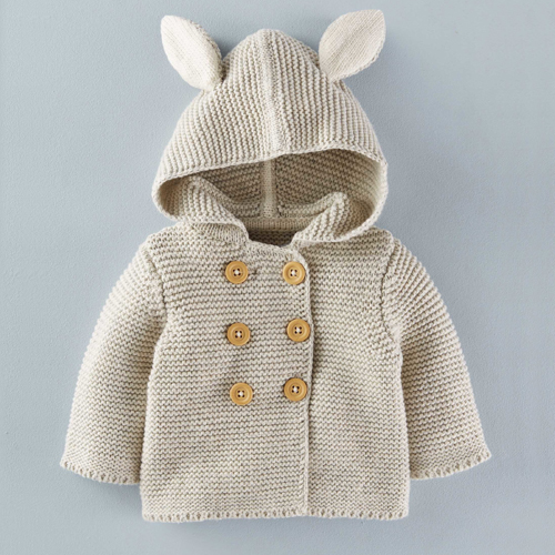 Knitted Bunny Jacket from Mini Boden