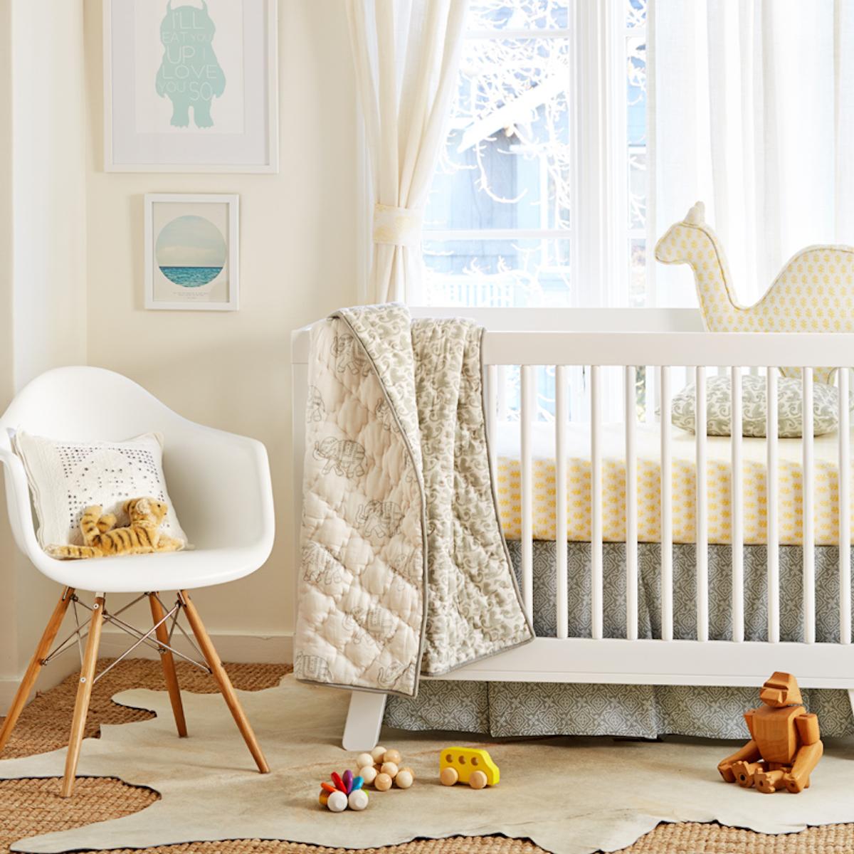 Booti Butter Crib Sheet by Rickshaw Design