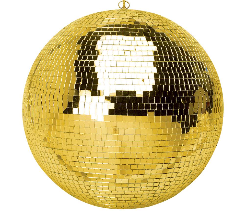 Gold Mirror Disco Ball from Amazon