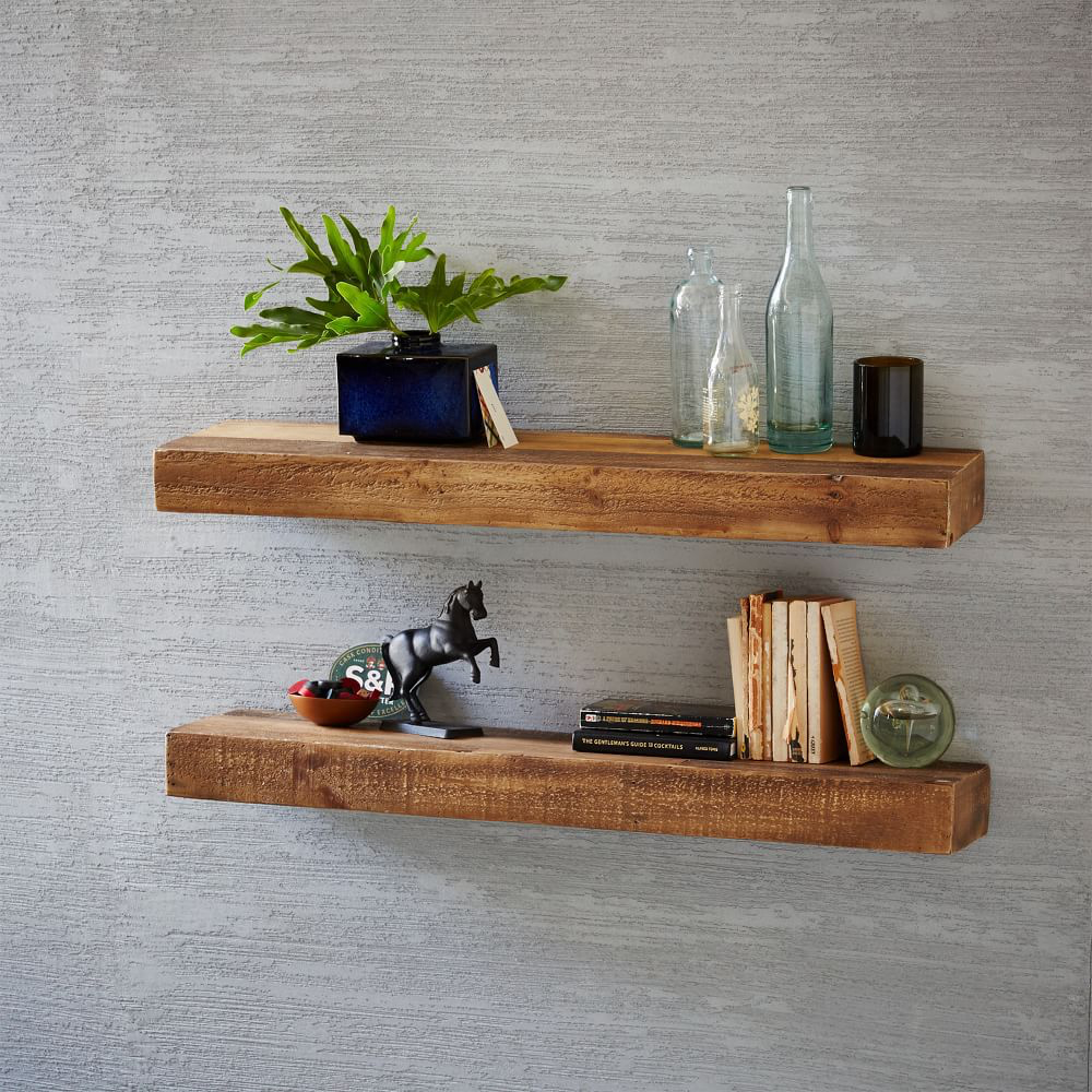 Reclaimed Wood Floating Shelves from West Elm