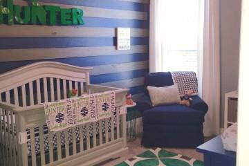 Green and Navy Nursery