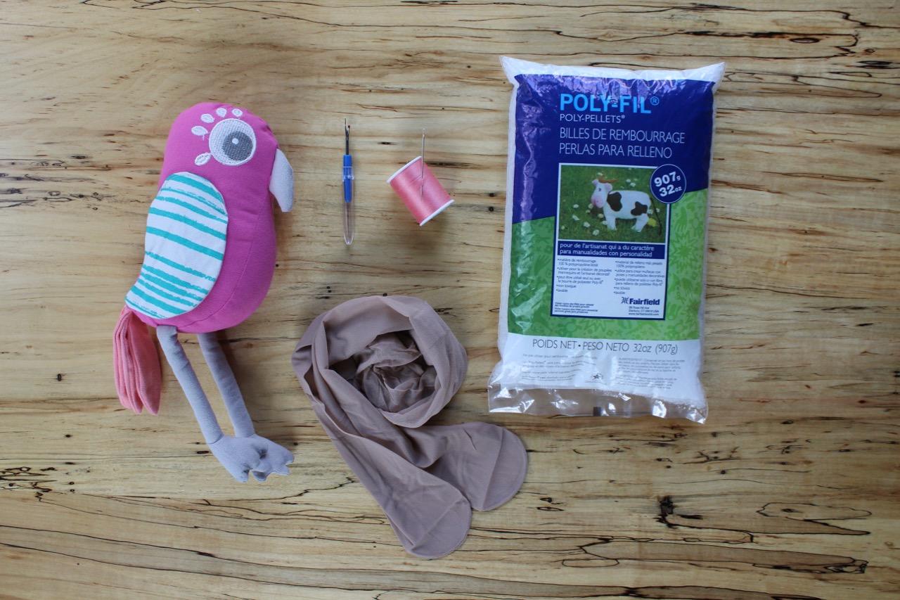 DIY Stuffed Animal Bookend Materials
