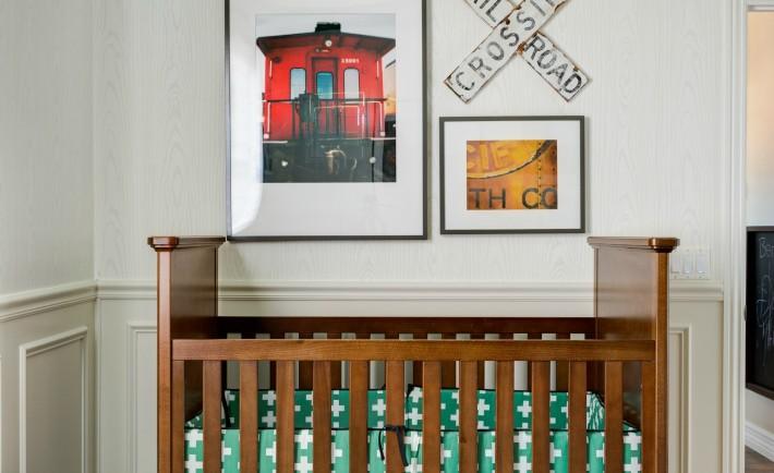 Eclectic Train-Themed Nursery