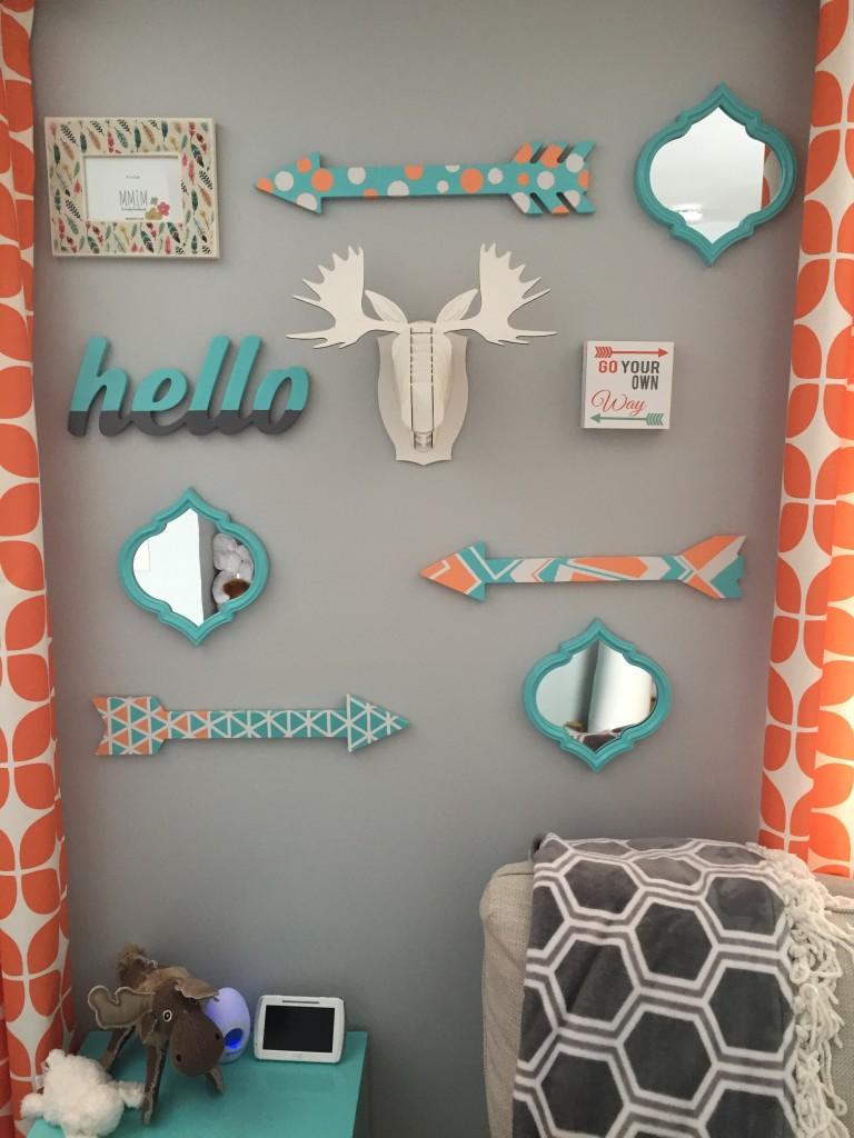 Bright Moose Nursery Gallery Wall