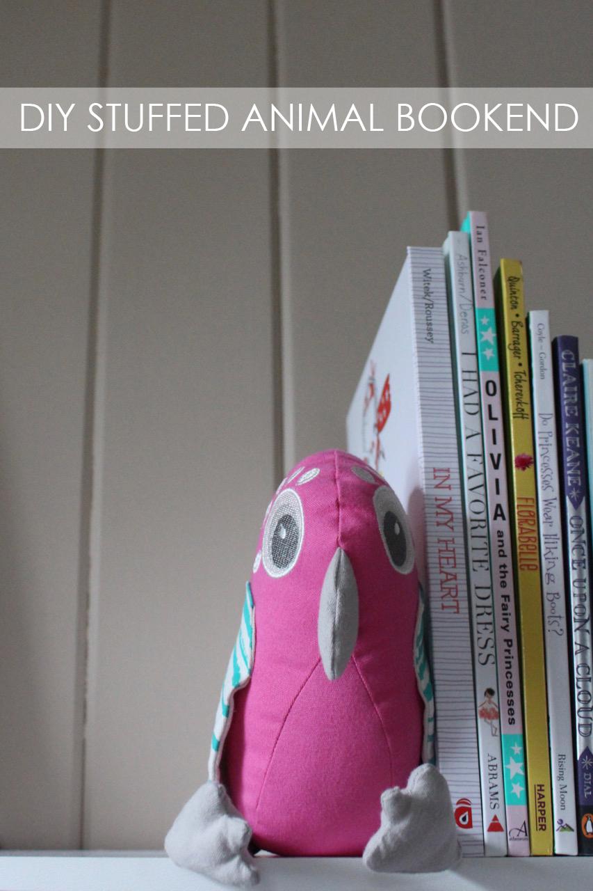 DIY Stuffed Animal Bookend