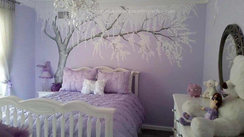 Sparkly Cherry Blossom nursery turned big girl room - Project Nursery