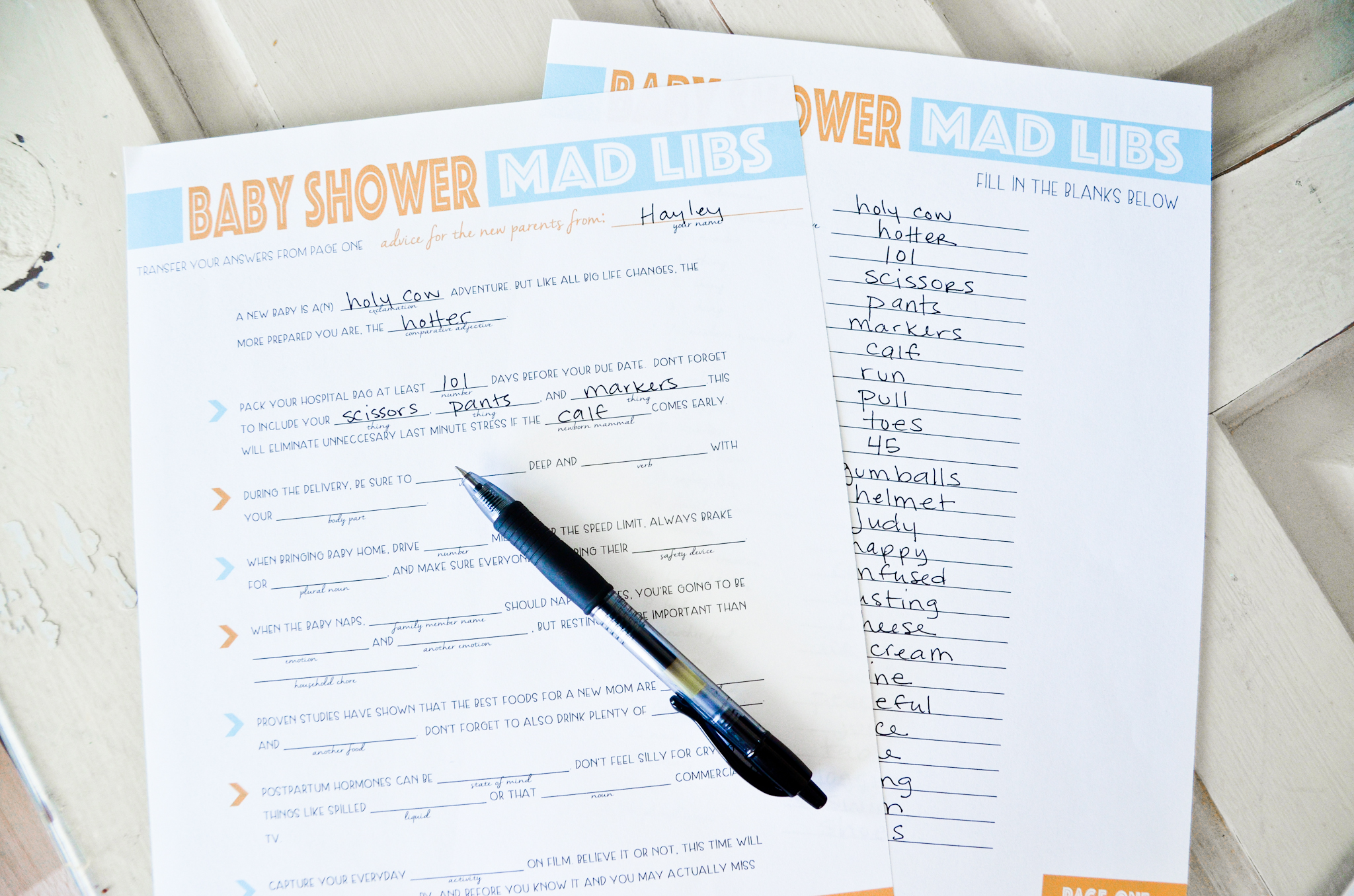 image about Baby Shower Mad Libs Printable called Cost-free Printable Boy or girl Shower Ridiculous Libs - Task Nursery