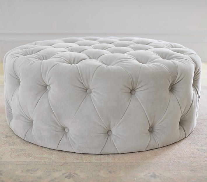 Round Tufted Ottoman
