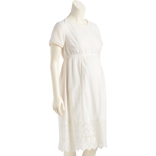 Eyelet-Trim Midi Dress from Old Navy