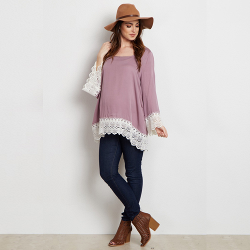 Bell-Sleeve Maternity Top from Pink Blush Maternity