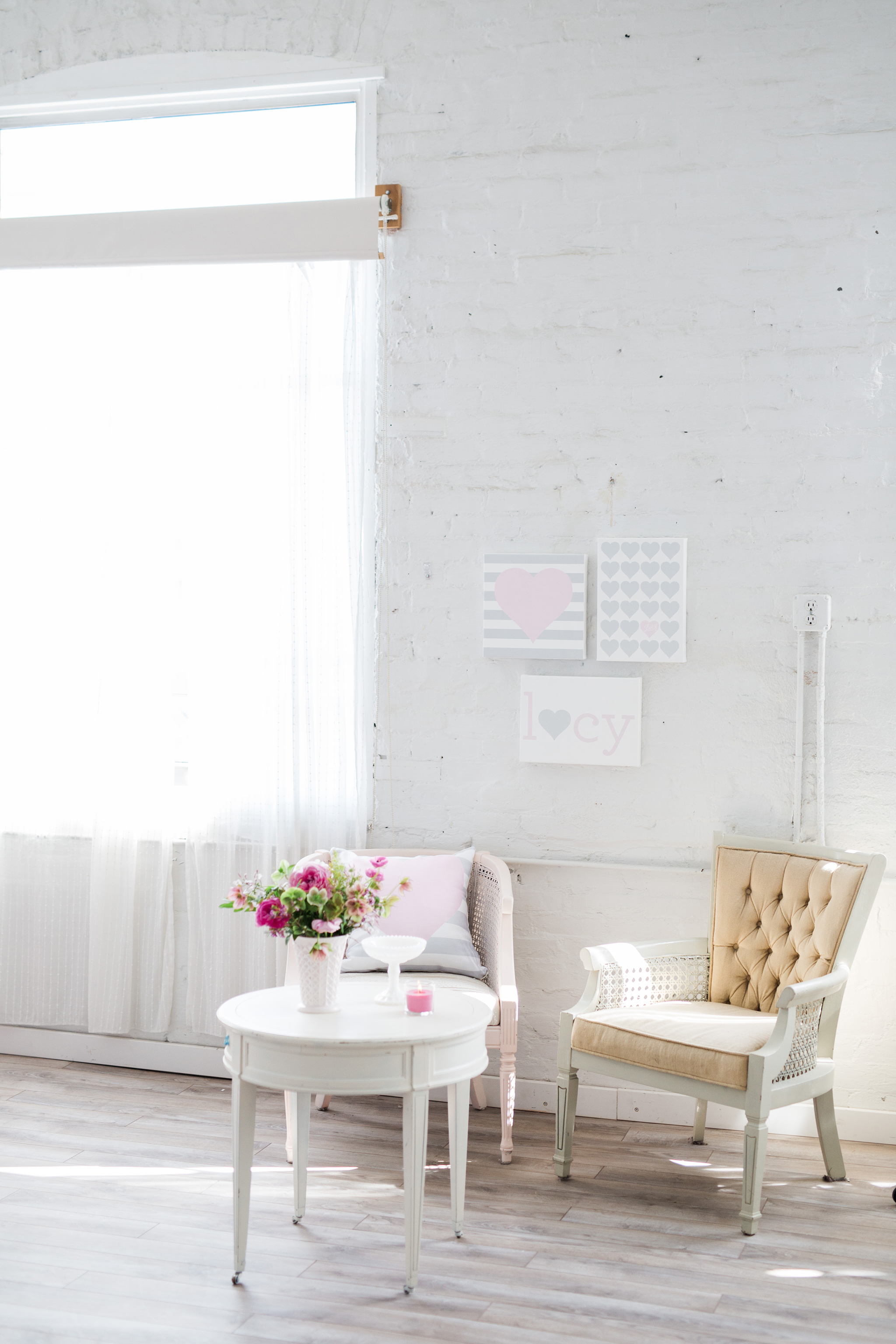 Pink and Gray Baby Shower Decor