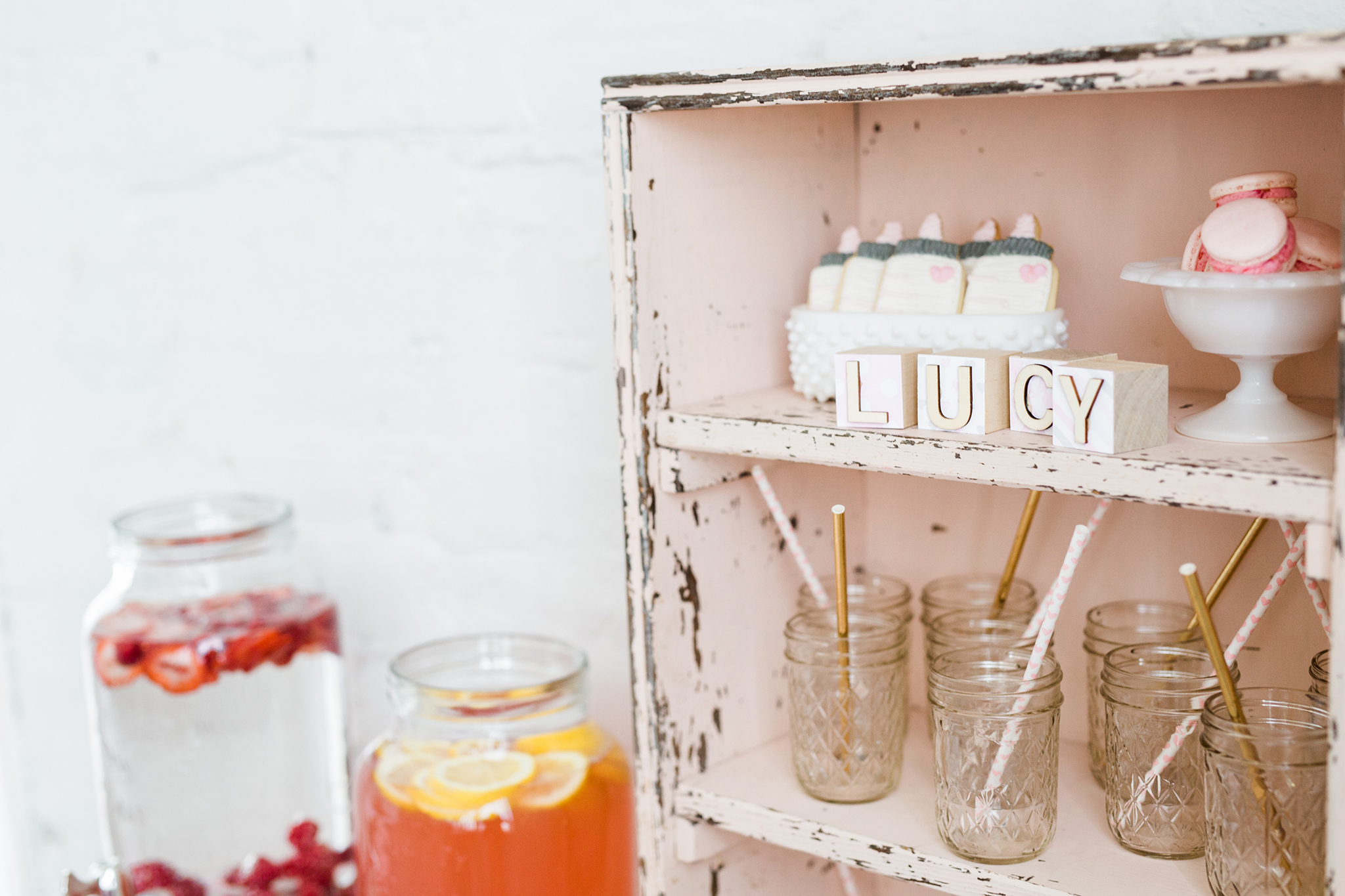 Feminine Pink and Gold Baby Shower