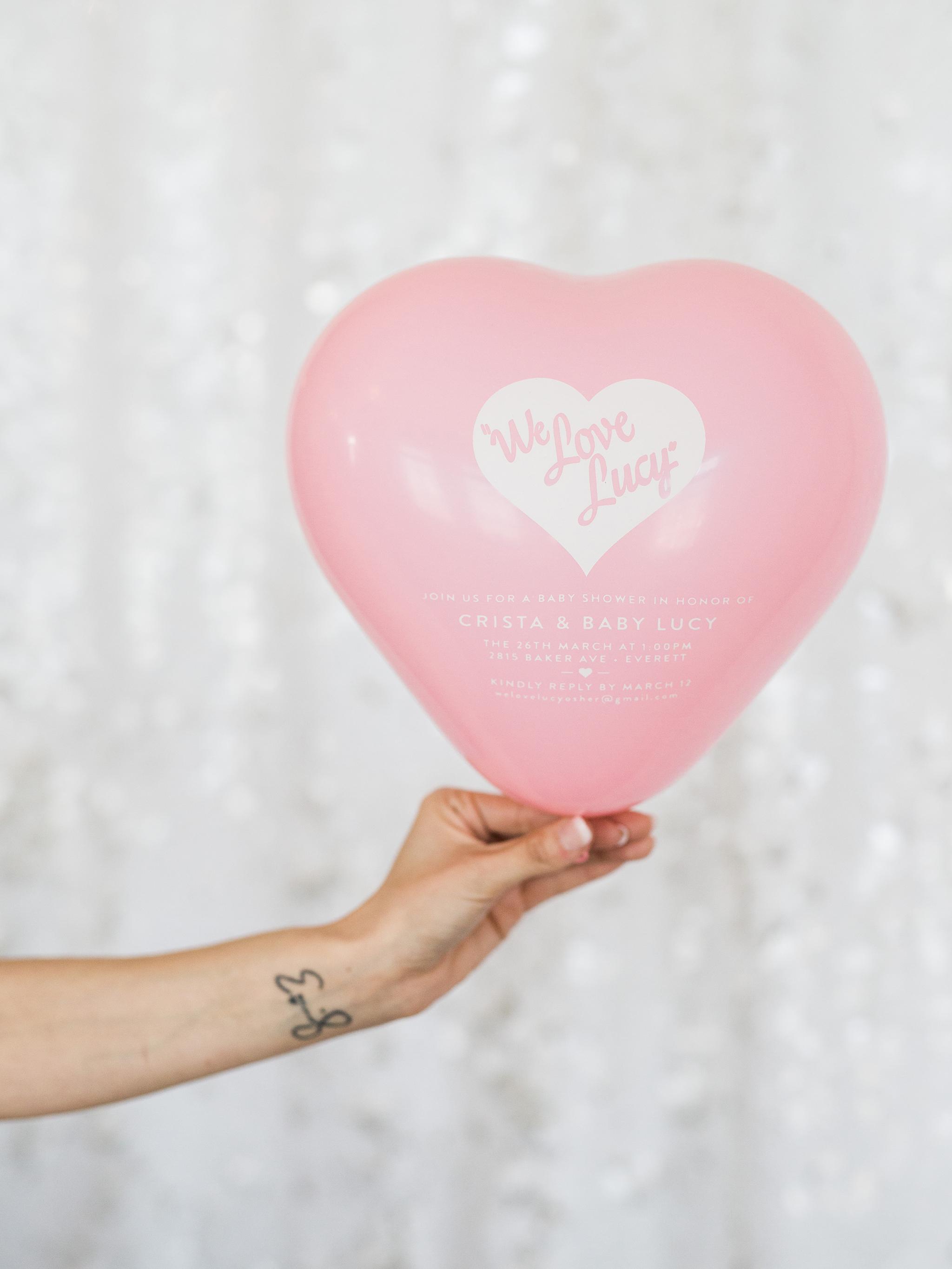 Pink Balloon Baby Shower Invitations