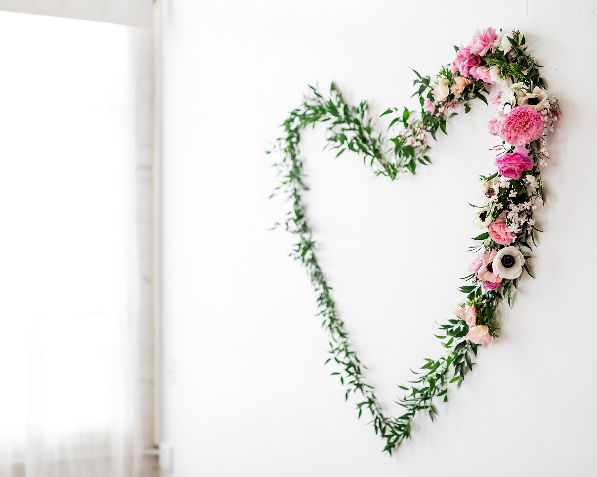 DIY Floral Heart Wall Decor