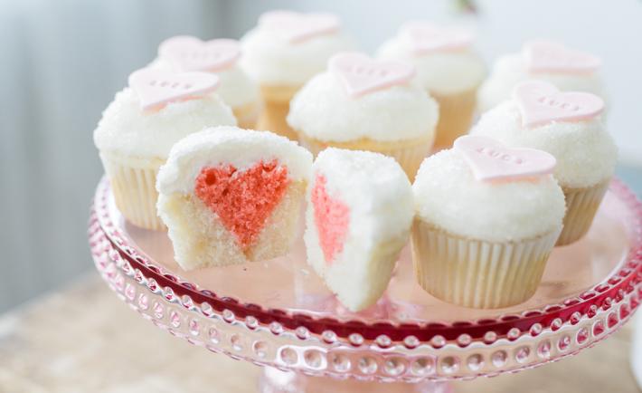 Heart Inside Cupcake