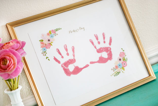 Mother's Day Keepsake Handprint Free Printable