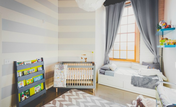 Gray and White Nursery Design