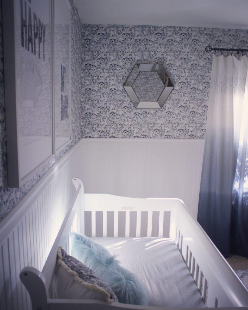 Fabric Wallpaper Beadboard Oasis Project Nursery