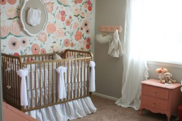 Hand Painted Floral Wall Mural Nursery