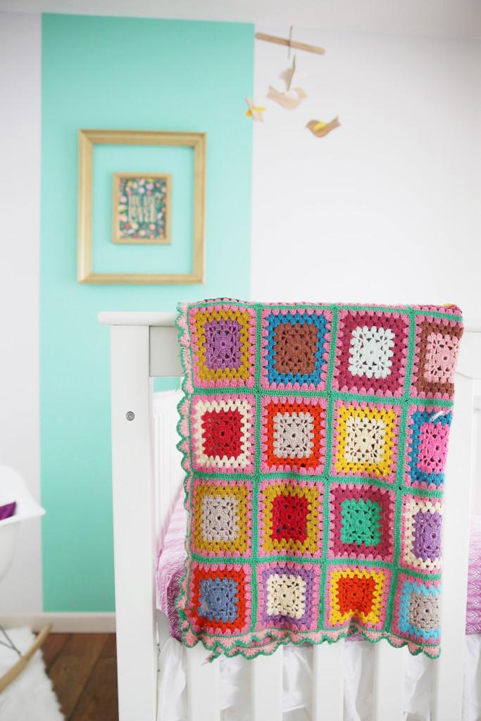 Modern Mint Nursery with Heirloom Afghan - Project Nursery