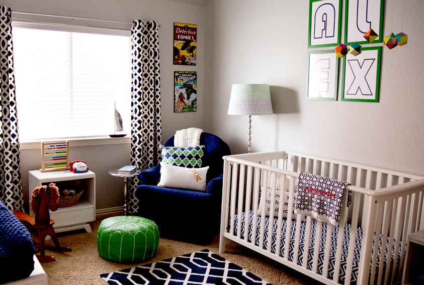 Blue and Green Mid-Century Nursery - Project Nursery
