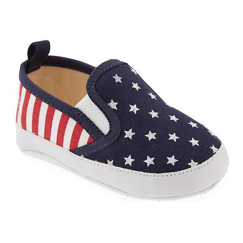 Americana Canvas Slip-Ons