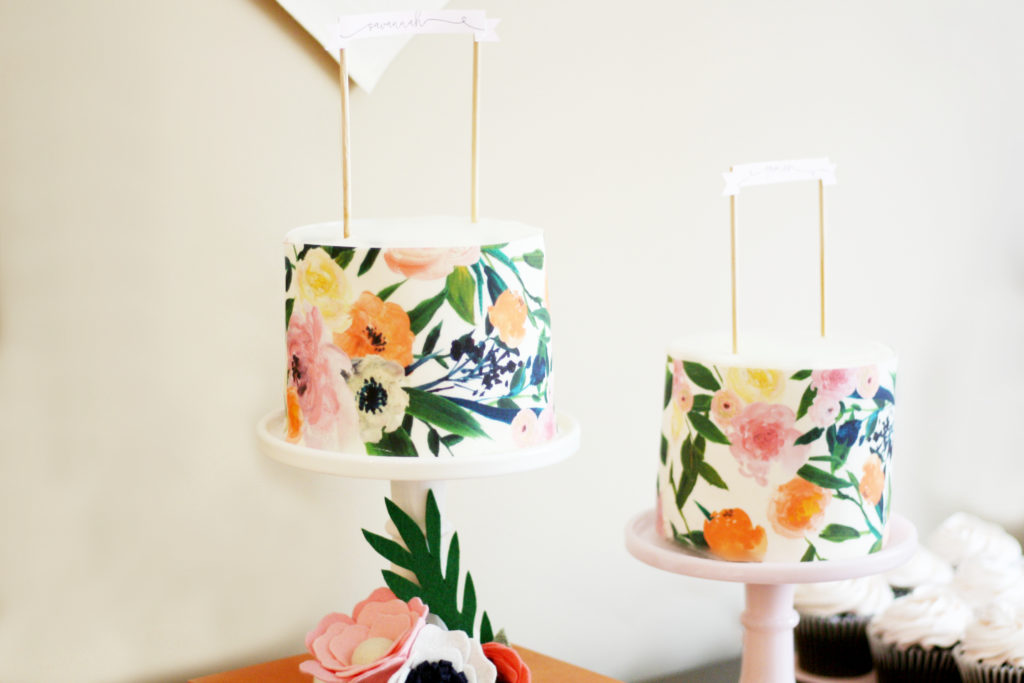 Floral Baby Shower Cakes - Project Nursery